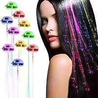 Acooe 10 Pack flashing led light up toys Optics led hair lights, flashing led Light Up Toys, Barrettes for Party, Bar…