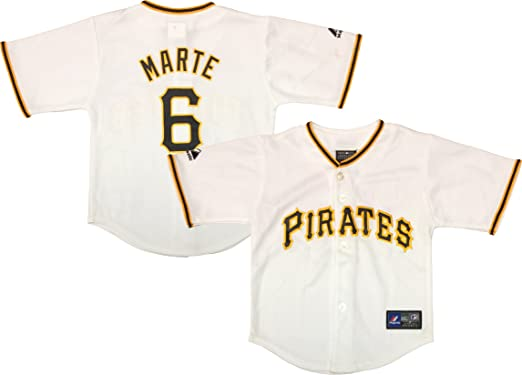 928560d7f38 Outerstuff Starling Marte Pittsburgh Pirates  6 White Toddler Authentic Home  Jersey (Toddler 2T)