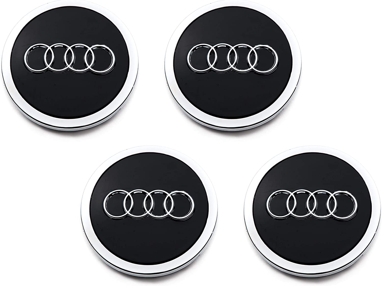 4 tapacubos centrales para Audi 4B0601170A (69 mm), color negro, para Audi A3 A4 A6 A8 S4 S6 RS4 RS6: Amazon.es: Coche y moto