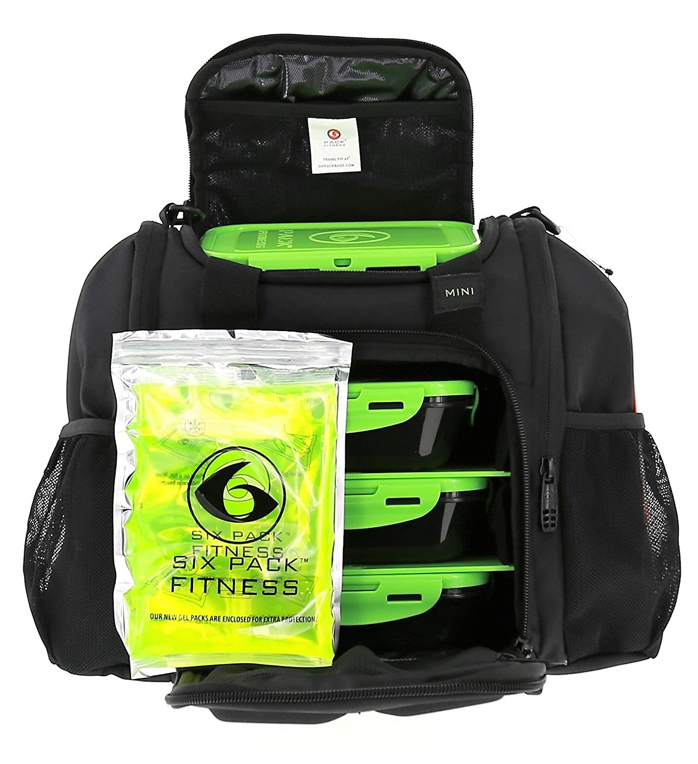 6 Pack Fitness Bag Mini Innovator With ZogoSportz Cyclone Shaker