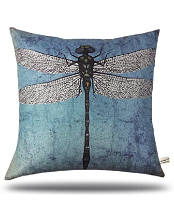 3fee033161f8 ONWAY 18 X 18 Inch Cotton Linen Retro Vintage Home Decorative  Indoor Outdoor Throw Cushion