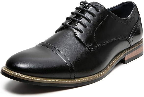 Amazon.com | ZRIANG Men's Classic Cap Toe Lace-up Oxford Dress Shoes |  Oxfords