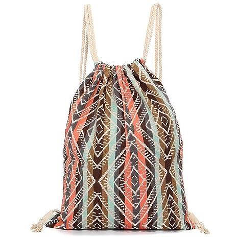 bolsas de cuerdas mujer mochilas saco tela lona patrones ...