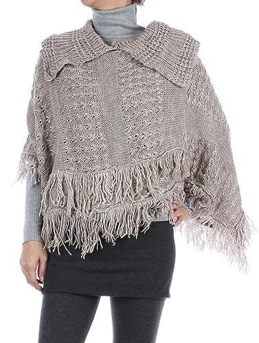 Amazon Ri001 Knitted Collar Poncho Scarf Jewelry