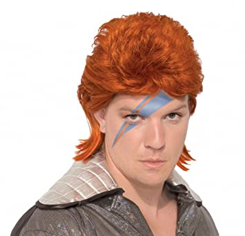 shoperama Ziggy Stardust Peluca Naranja David Bowie Star Celebrity Mullet Pop Star
