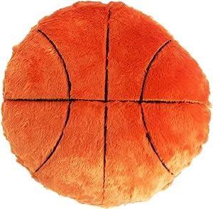 URSUN Basketball Plush Pillow Basketball Pillow Fluffy Durable Stuffed Basketball Throw Pillow Office Sofa Decor Cushion Soft Sports Toy Gift Sports Theme Room Decoration for Kids