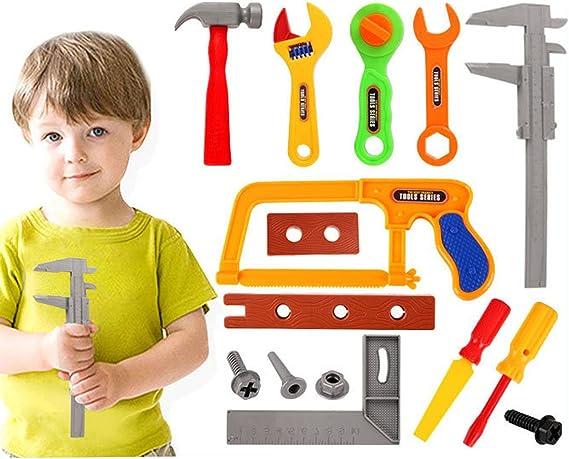 Tosbess Caja de Herramientas Niño 37 Pieza Herramientas Juguete de construcción Juegos de rol Utensilios para niños Herramientas Maleta: Amazon.es: Juguetes y juegos