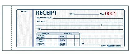 amazon com rediform money receipts carbonless 3 parts 2 75 x 7