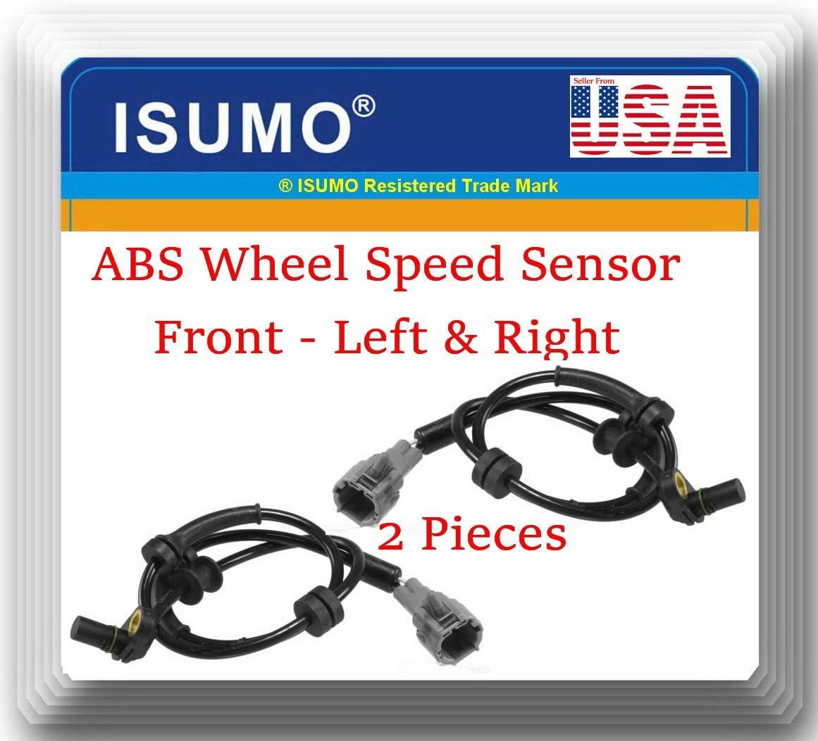 Nissan Armada 2008-2012 Nissan Titan 2008-2011 2 Pieces ABS Wheel Speed Sensor Front Left /& Right Fits Infiniti QX56 2008-2010