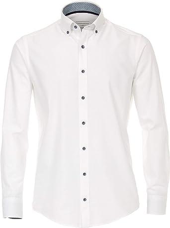 Casa Moda Casual Fit - Camisa de manga larga con discreto patrón de tejido, talla M hasta 7XL.: Amazon.es: Ropa y accesorios