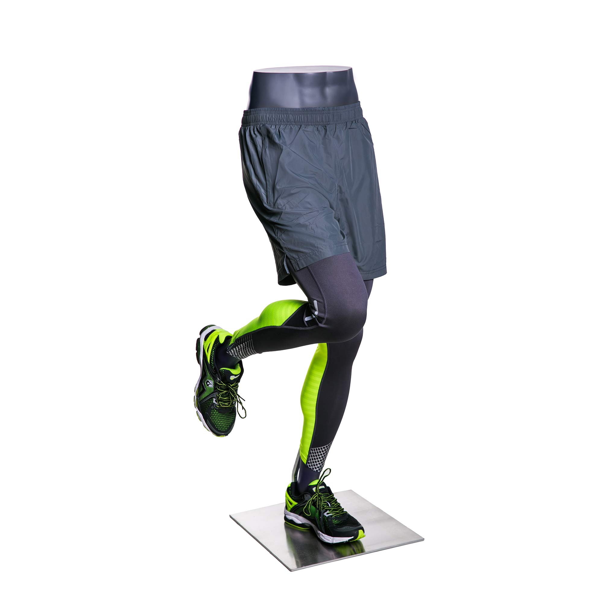 (MZ-HEF50LEG) High end Quality. Eye Catching Male Headless Mannequin Leg, Athletic Style. Running Pose. by Roxy Display (Image #2)