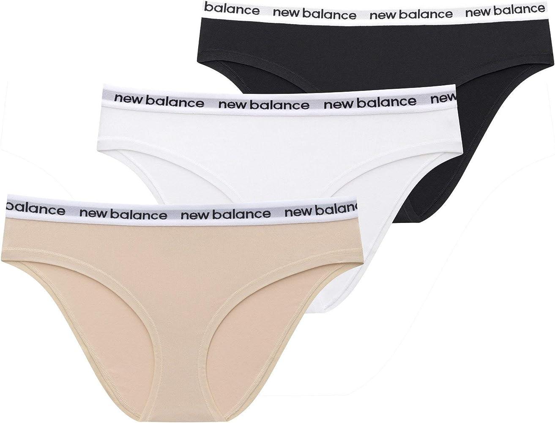 New Balance Women's Premium Performance Logo Elastic Hipster (3 Pack or 6 Pack of Women's Underwear)