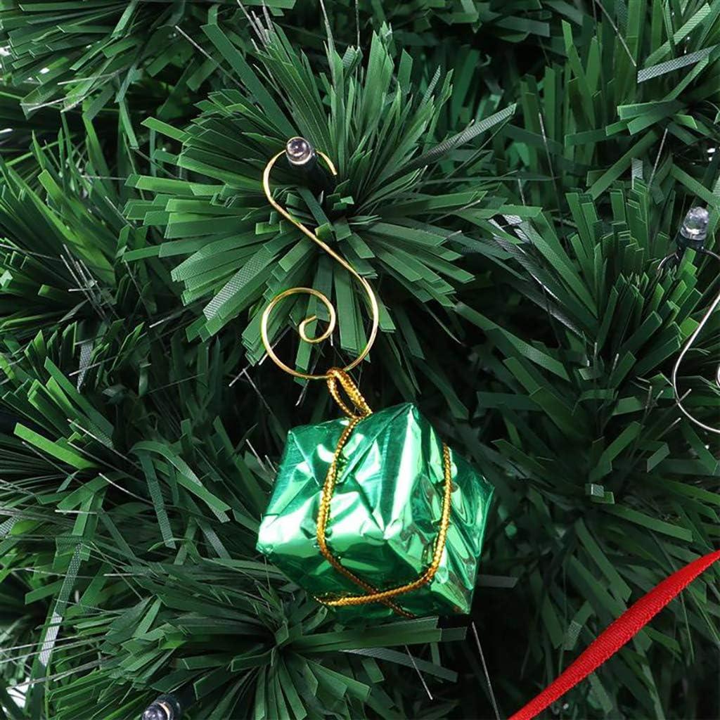 ZERIRA Christmas Ornament Hooks 160 Pcs Multiple Colour Christmas Tree Ornament Hangers Hooks Great for Christmas Tree Decorations