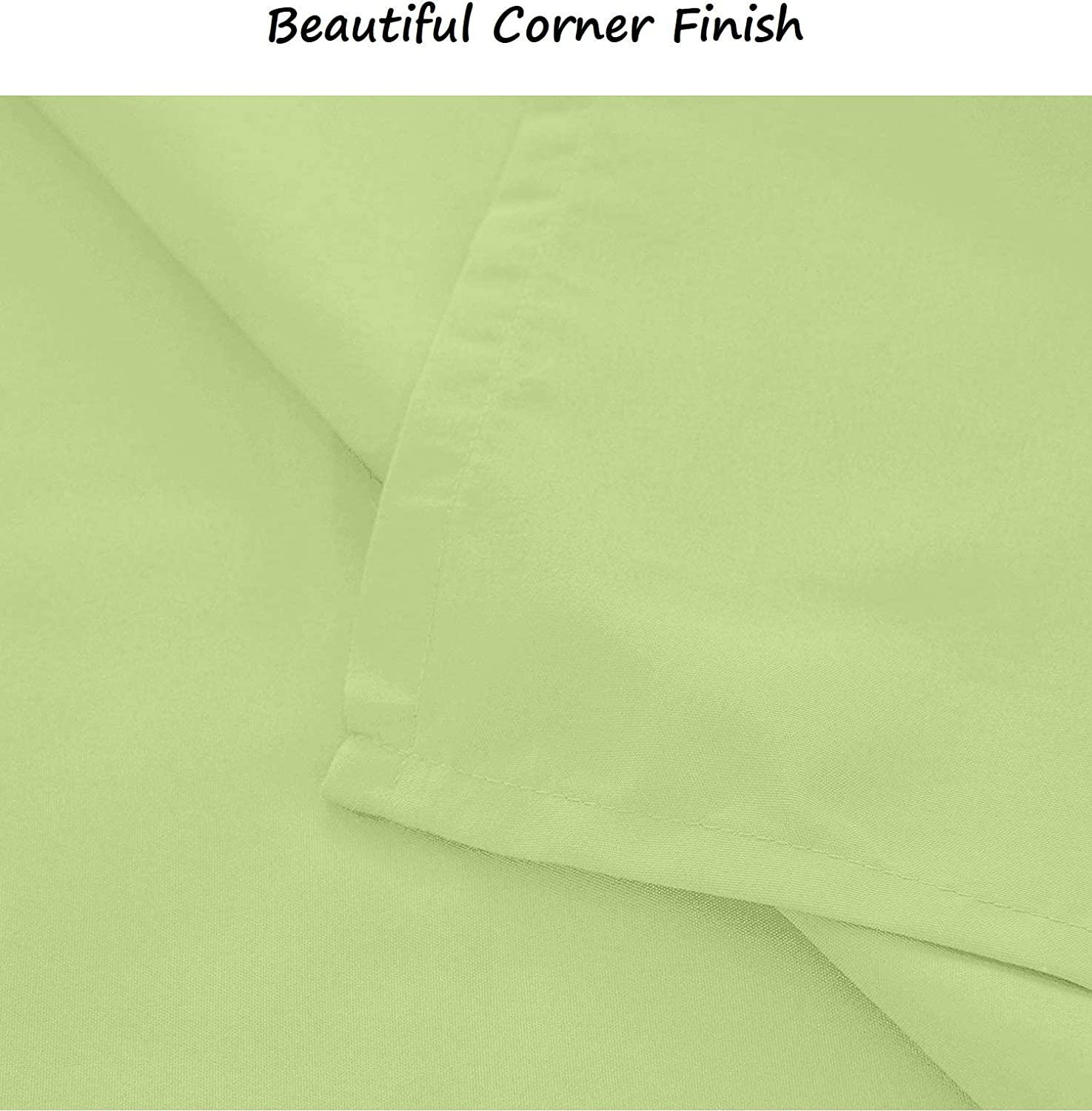 100/% Cotton Material Sage Solid Color Thread Soft and Durable Top Sheets for Your Bed King Size 400 Count Flat Sheet Only
