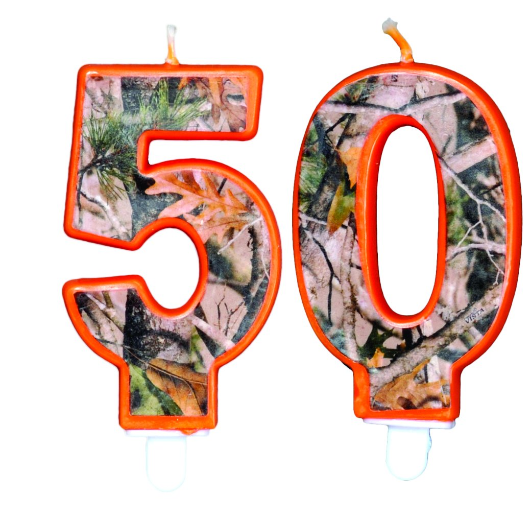 Next Camo Birthday Number Candle (50)
