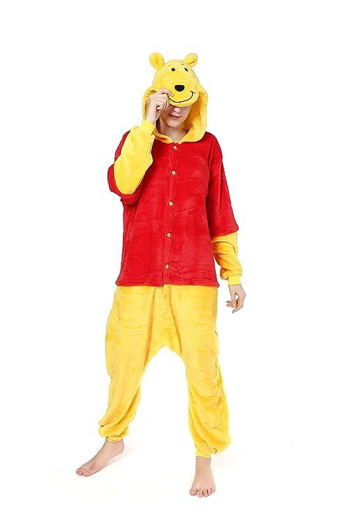 Pijama de una sola pieza y con capucha, diseño de Winnie the Pooh ...