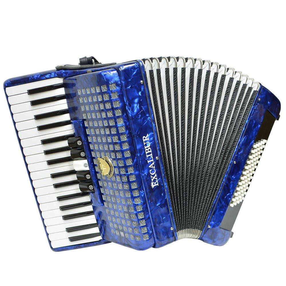 Excalibur Super Classic 60 Bass Piano Accordion - Pearl Dark Blue