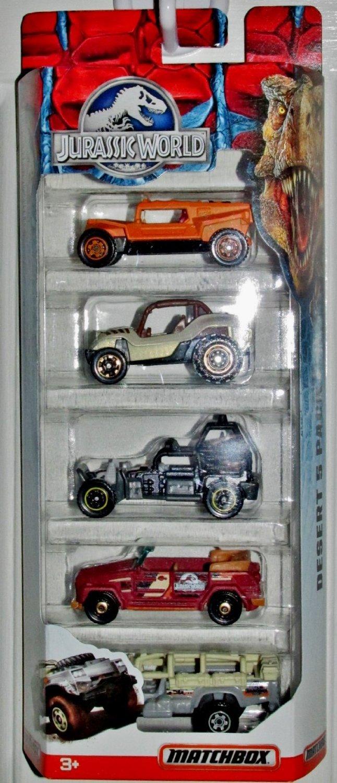 Matchbox Jurassic World Desert Desert Desert 5 Pack Die Cast Toy Vehicle by Mattel ea062d