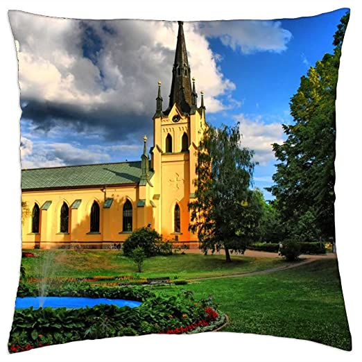Hermosa iglesia - Funda de cojín (18: Amazon.es: Hogar