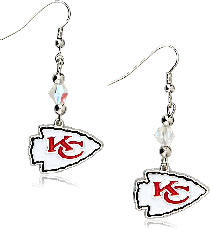 Siskiyou NFL Crystal Dangle Earrings