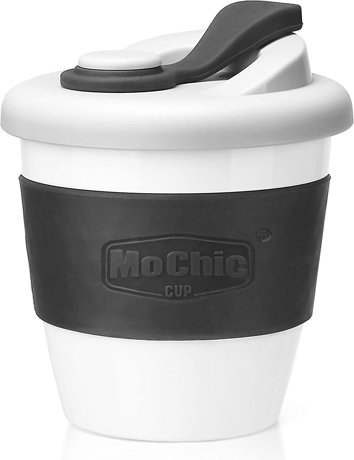 MOCHIC CUP Reusable Coffee Cup with Lid Portable Travel Mug with Non Slip Sleeve BPA Free Dishwasher and Microwave Safe Friendly Coffee Mug