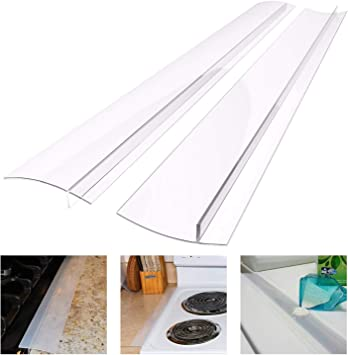 Washer Washing Machines Oven 2 Pack Silicone Kitchen Stove Counter Gap Cover Long /& Wide Gap Filler Heat-Resistant and Easy Clean for Stovetops Clear Dryer 21 inches