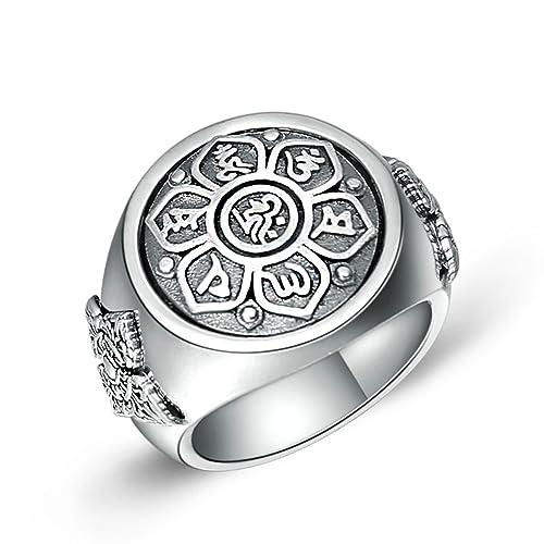 grande vendita 68c2c 8510c Aooaz Gioielli anelli da uomo anello argento 925 Mantra ...
