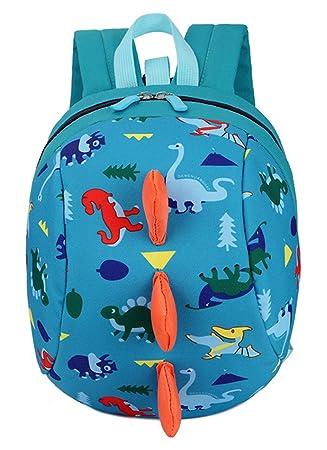 GEMVIE Mochila Escolar Infantil Niños Viaje Estampado Dinosaurios Azul Claro: Amazon.es: Equipaje