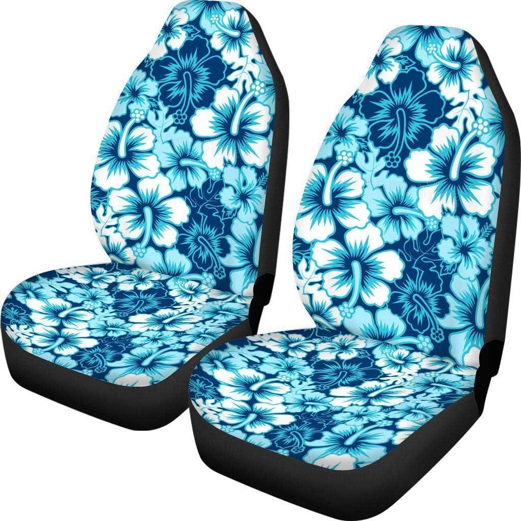 POLERO - Fundas de asiento de coche originales con estampado de caballos, paquete de 2 fundas para silla de coche, fácil de instalar, lavable, protector suave para asientos delanteros de coche
