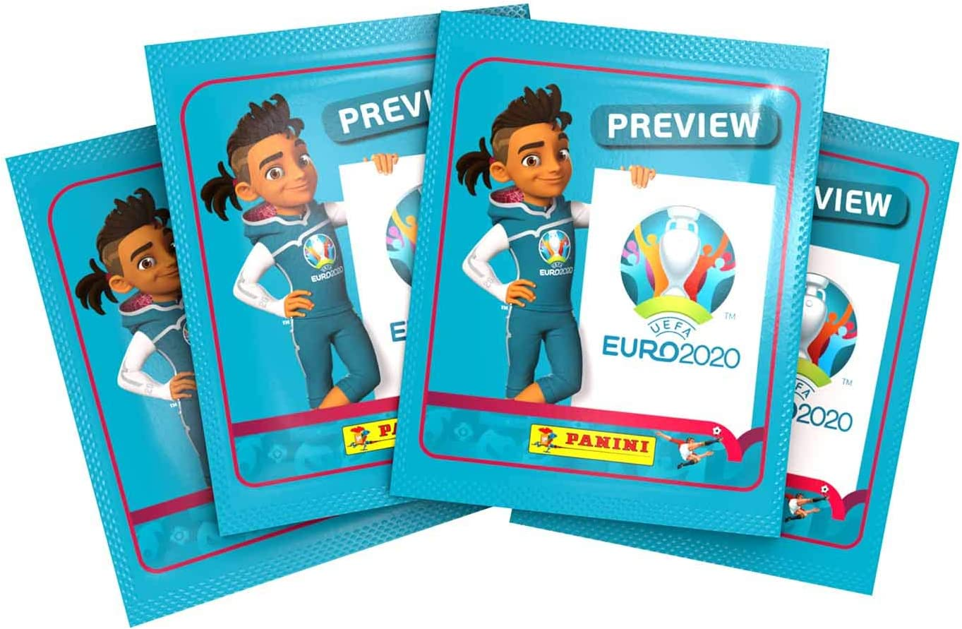 x60 Panini EP20STP Euro 2020 Preview Sticker Collection Packs