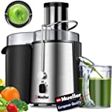 "Mueller Austria Juicer Ultra 1100W Power, Easy Clean Extractor Press Centrifugal Juicing Machine, Wide 3"" Feed Chute for Whol"