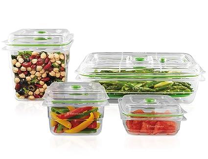 Beau FoodSaver Vacuum Sealed Fresh Container Set, 4 Piece Set, Clear