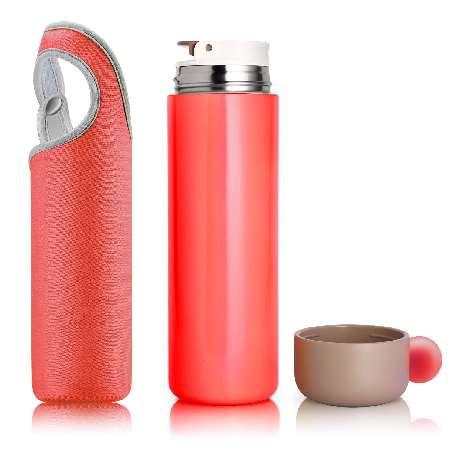 Amazon.com  Vacuum Insulated Stainless Steel Water Bottle Double Walled for  Women bdd3975add