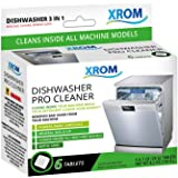 XROM High Efficiency Natural Dishwasher Cleaner 3 in 1 Formula, Removes Odors, Limescale & Detergent Build-Up, Contains 100%