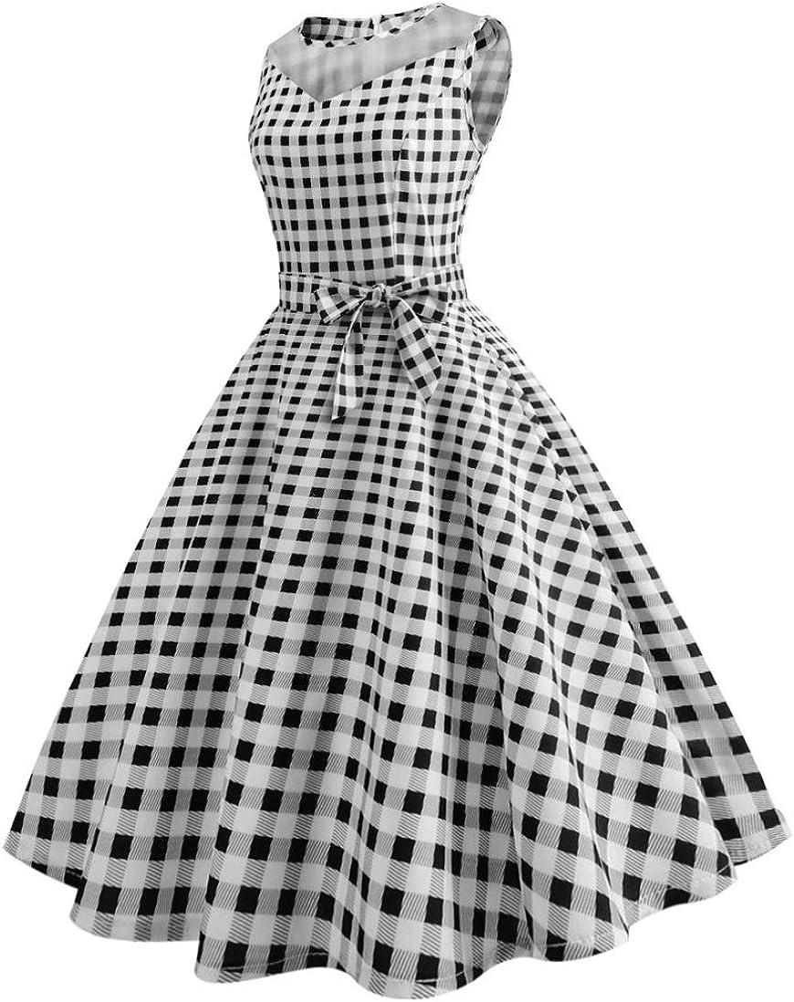 Amazon.com: Vestido estilo retro Rockabilly para mujer ...