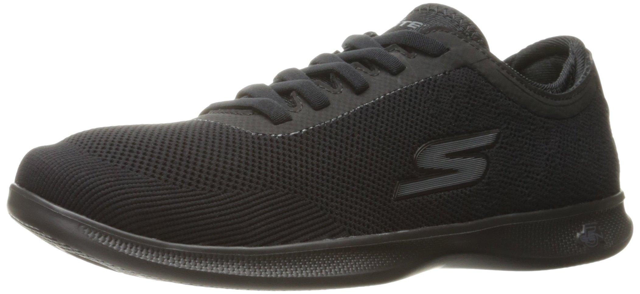 Skechers Performance Women's Go Step Lite-Swerve Walking Shoe,Black,9.5 M US