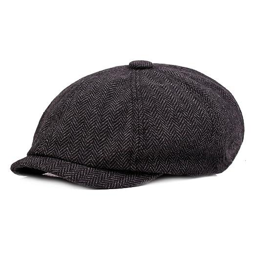 ZLSLZ Mens Striped Ivy Newsboy Cabbie Gatsby Golf Beret Painter Hats Caps  For Men 8f681177492d
