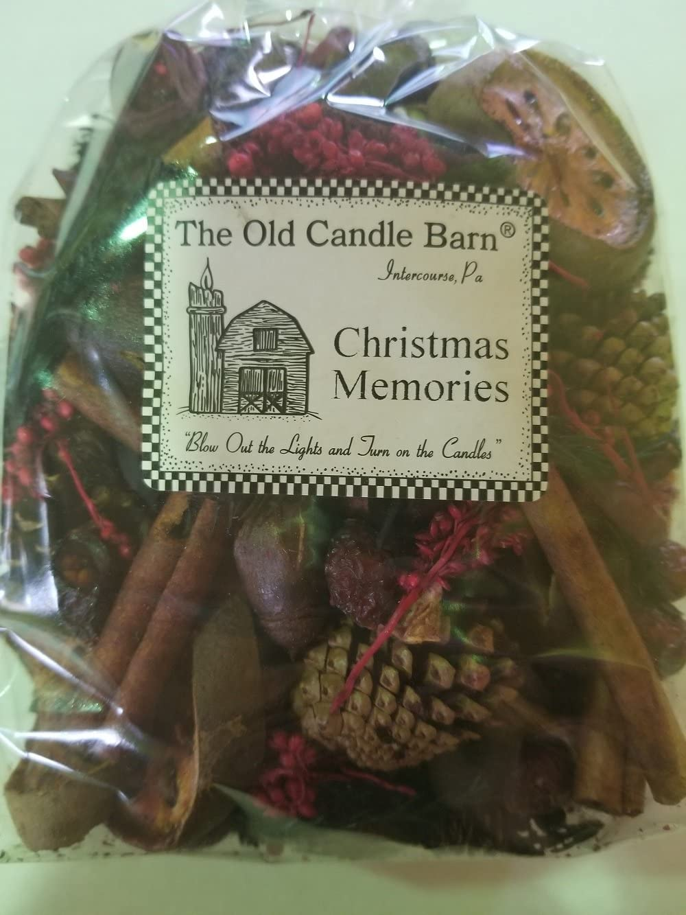 Old Candle Barn Christmas Memories Potpourri Large Bag - Perfect Fall, Winter Decoration or Bowl Filler - Beautiful Christmas Scent - Made in USA