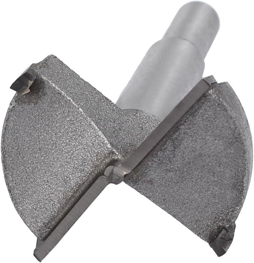 sourcingmap 40mm Dia tige ronde /à pointe carbure scie coupe bois Foret charni/ère plate