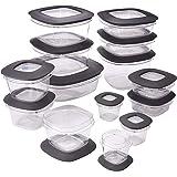 Rubbermaid Tritan plastic Premier Food Storage Containers(Grey) - Set of 28