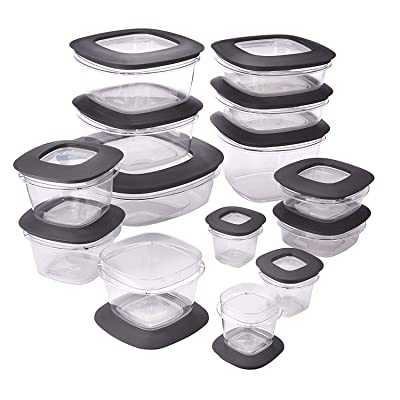 Rubbermaid Premier Easy Find Lids Meal Prep and Food Storage Containers