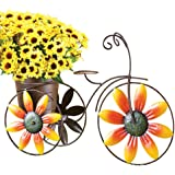 Charming Sunflower Tricycle Planter