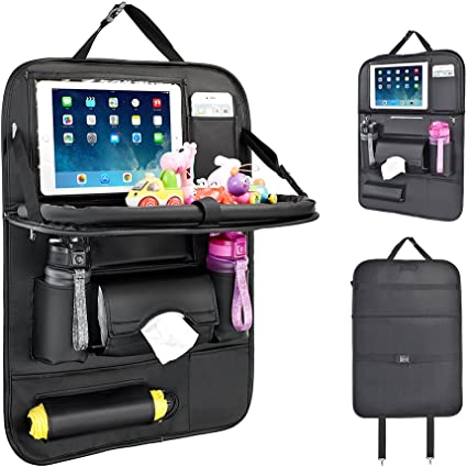 Multi Pocket Car Seat Organizer with Universal Tablet Holder SAFE EASY QUALITY
