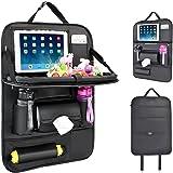 Protezione Sedile Auto Bambini, Proteggi Sedili Auto Bambini Organizer Auto con Multi-tasca e tavolino pieghevole iPad porta tablet auto -1PC