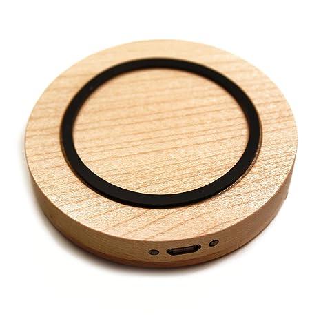 Cargador inalámbrico portátil, color madera clara móvil para ...