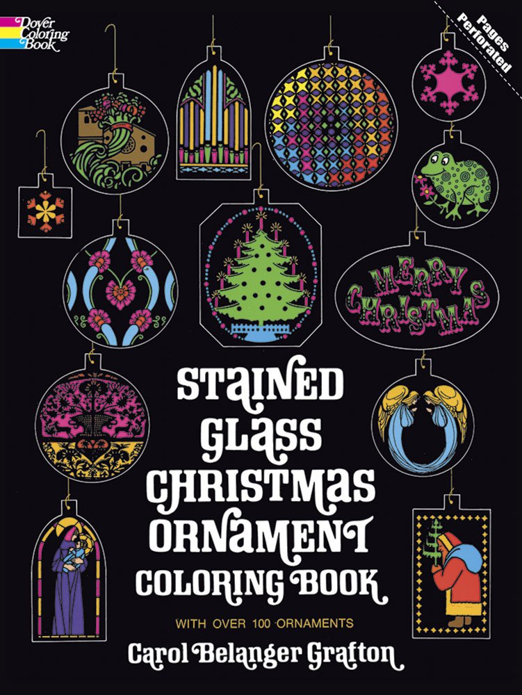 Stained Christmas Ornament Coloring Holiday product image