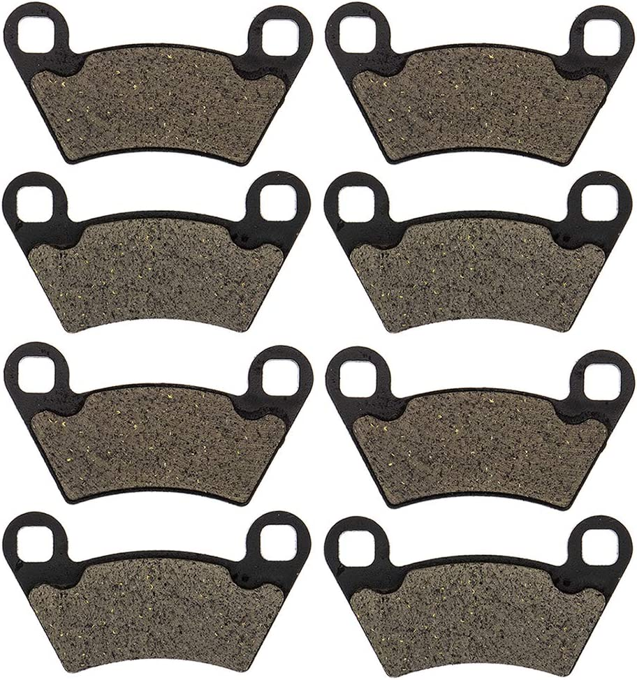NICHE Organic Front Rear Brake Pad Set For Polaris Ranger 500 570 800 2202413 2202097 1910514 1910672 4 Pack