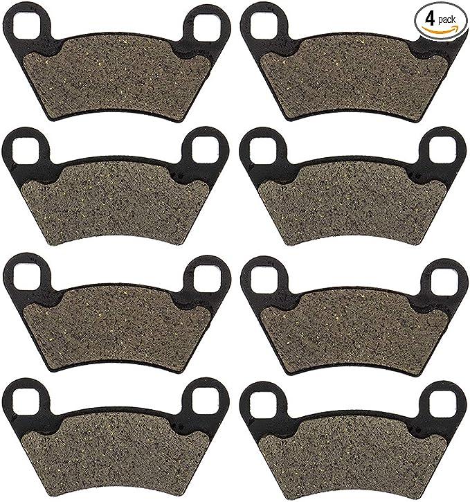 NICHE Front Rear Brake Pad Set For Polaris Ranger 500 570 800 2205949 2203747 1911228 Organic 4 Pack
