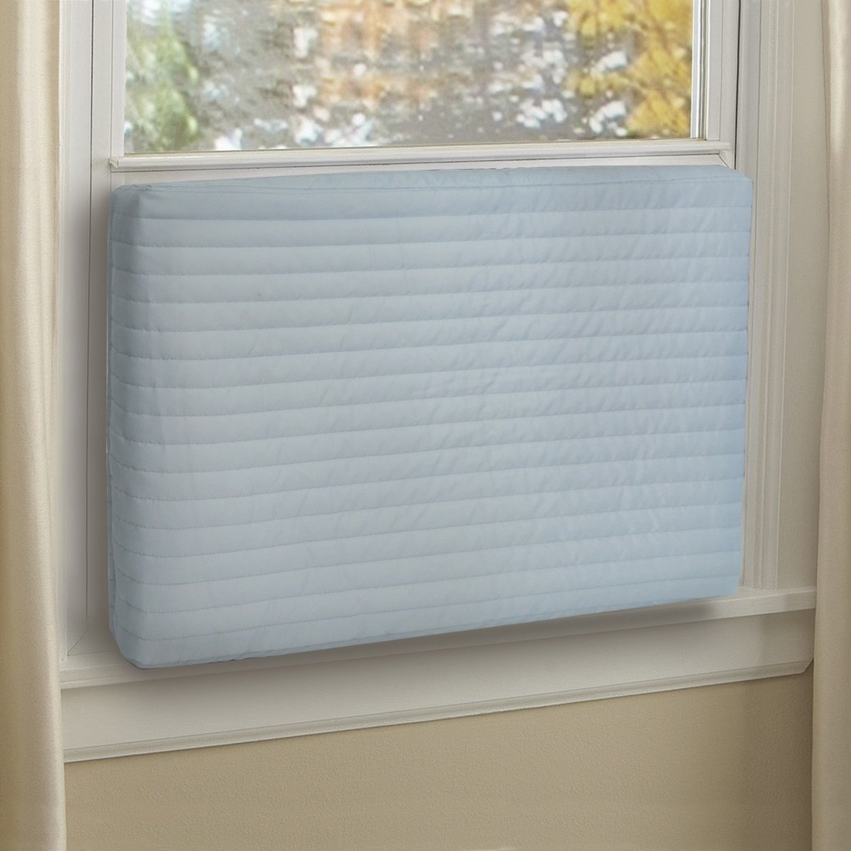 Jeacent Indoor Air Conditioner Cover Small Steel-Blue
