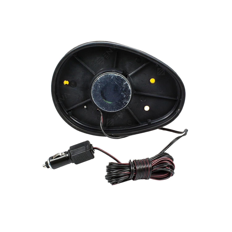 TK - Lámpara de advertencia magnética giratoria, 12 V, color amarillo: Amazon.es: Coche y moto